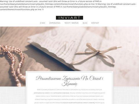 InviArt.pl - Zaproszenia Na Chrzest i Komunię - Personalizowane Wzory Ze Zdjęciem
