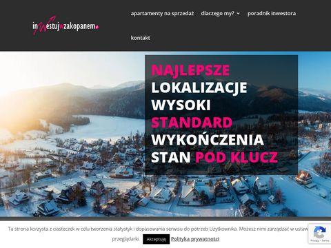 Zobacz apartamenty inwestycyjne w Zakopanem na inwestujwzakopanem.pl
