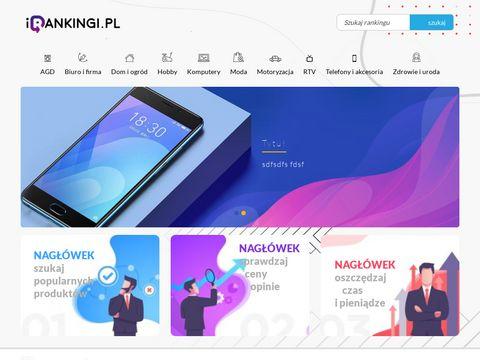 Rankingi, porównania produktów - irankingi.pl