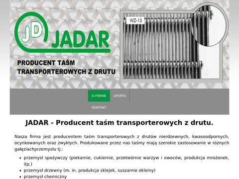 Jadar - Producent taÅ›m transporterowych z drutu