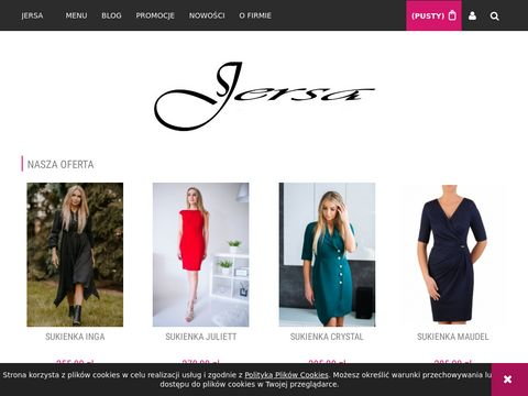 Sukienki dla puszystych - Firma JERSA