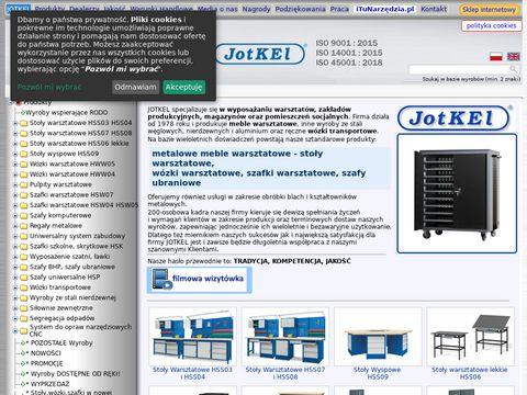 Jotkel - producent metalowych mebli warsztatowych i mebli szkolnych