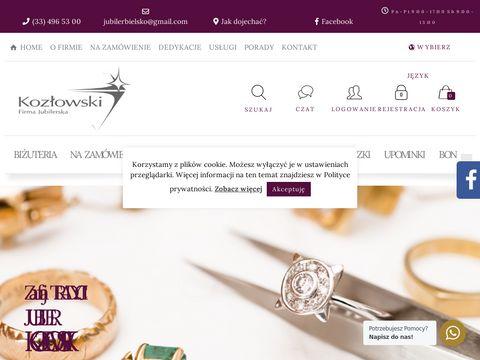 Firma Jubilerska Kozłowski - Biżuteria, Obrączki, Pierścionki, Naszyjniki, Kolczyki