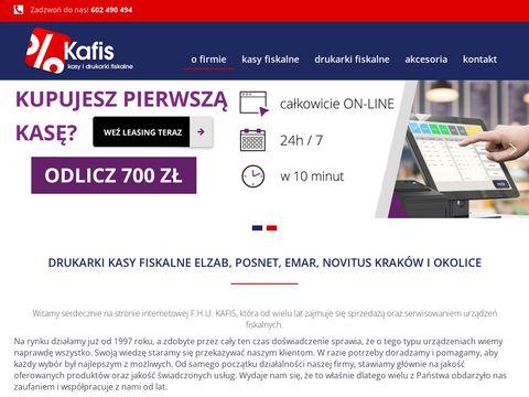 Kafis – urządzenia fiskalne Kraków: drukarka fiskalna Kraków, kasy fiskalne Kraków
