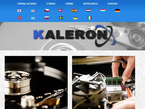 Serwis komputerowy i RTV Kaleron. Odzyskiwanie danych.