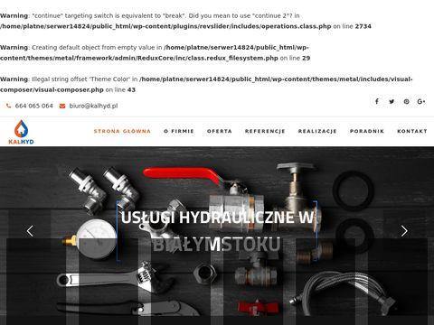 Usługi Hydrauliczne Białystok - Kalhyd.pl