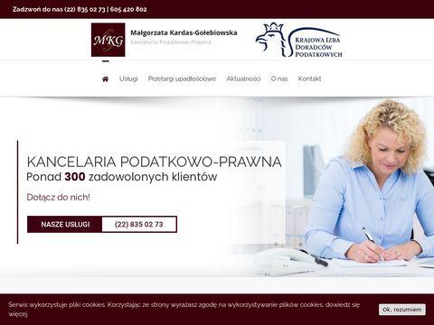 Kancelaria podatkowo-prawna Warszawa - Małgorzata Kardas-Gołębiowska
