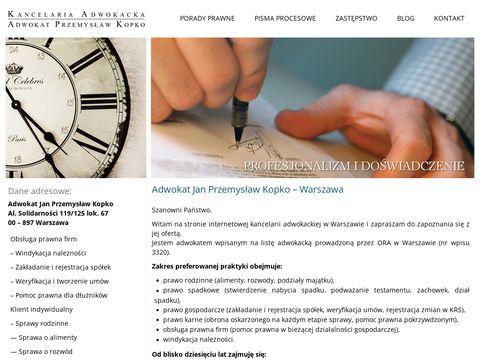 Adwokat Warszawa | kancelaria-kopko.pl