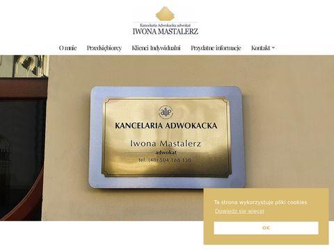 Radca Prawny - Adwokat Iwona Mastalerz