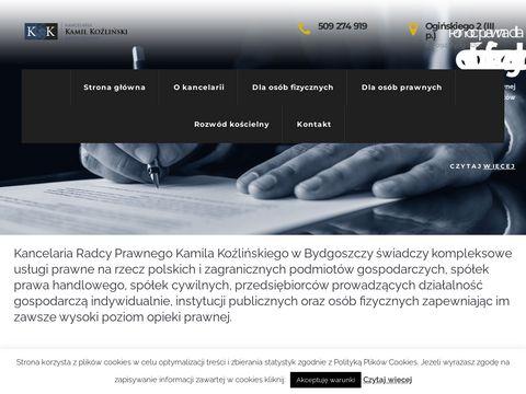 Kancelaria Koźliński - odszkodowania Bydgoszcz
