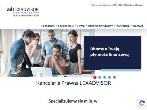 Kancelaria Lexadvisor - doradztwo przy restrukturyzacji