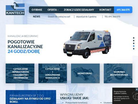 Czyszczenie kanalizacji - kantech.pl