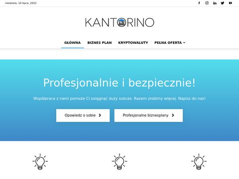 Kantorino - Usługi wymiany walut online