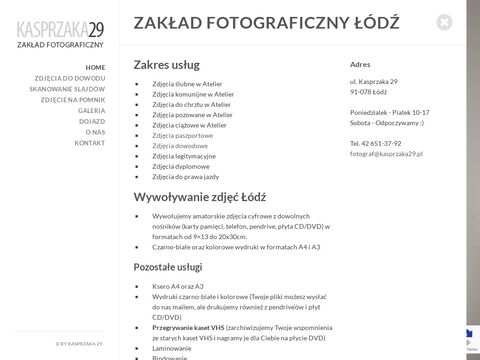 Zakład Fotograficzny �ódź - kasprzaka29.pl