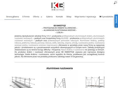 Rusztowania aluminiowe - kb-inwestycje.pl