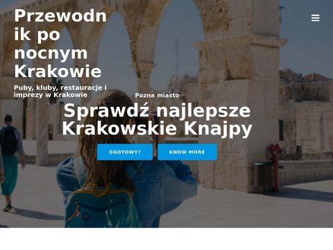 knajpy.krakow.pl - przewodnik po nocnym Krakowie