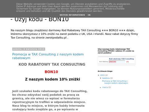 Kod rabatowy TAX Consulting