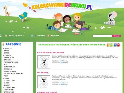 Kolorowankidodruku.pl - drukowanki dla dzieci