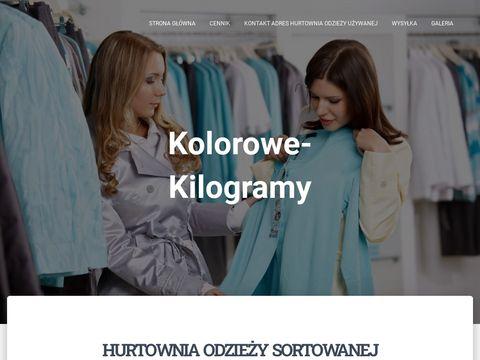 Kolorowe Kilogramy - Hurtownia odzieży używanej Sortowanej