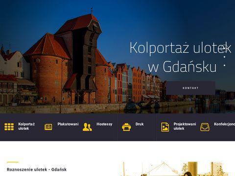 Roznoszenie ulotek Gdańsk - Kolportaż ulotek i plakatowanie