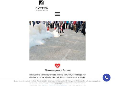 Szkolenia, usługi BHP, kursy pierwszej pomocy Poznań - Kompas