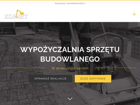 Kop-art #8211; Usługi koparko-ładowarką