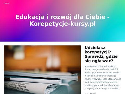 Korepetycje na korepetycje-kursy.pl
