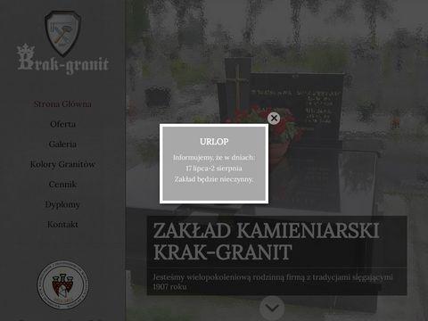 Krak-Granit. Kamieniarstwo nagrobki z granitu krak贸w