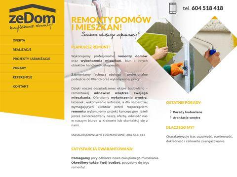 Usługi budowlane i remonty na terenie Krakowa.