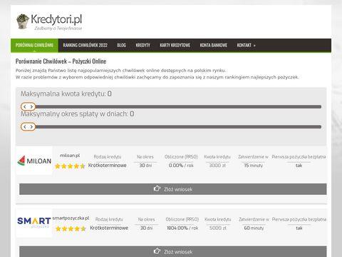 Kredytori.pl - Błyskawiczne pożyczki, kredyty, chwilówki
