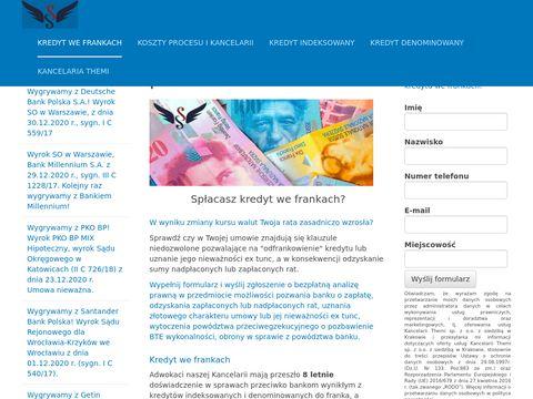 Kredyt we Frankach Unieważnienie Umowy Kredytowej pozew przeciwko bankom