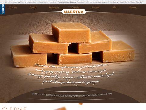 Cukierki z logo - Maestro