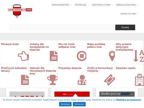 Krwiodawcy.org - Honorowe krwiodawstwo i krwiolecznictwo w internecie