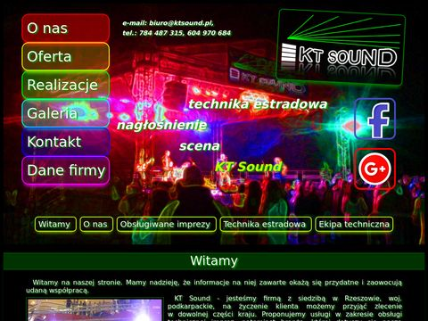 KT Sound - nagłośnienie i obsługa techniczna imprez
