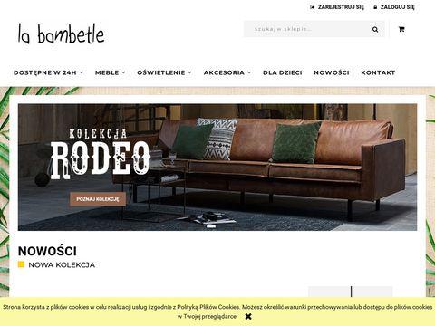Designerskie meble La Bambetle