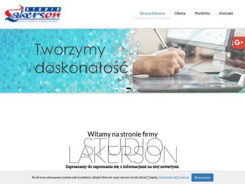 Www.lakerson.pl Projekty graficzne Warszawa