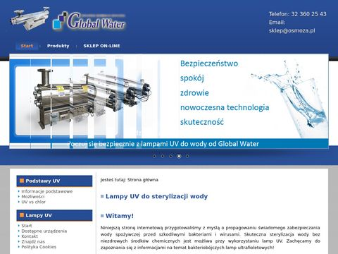 GLOBAL WATER sterylizator uv