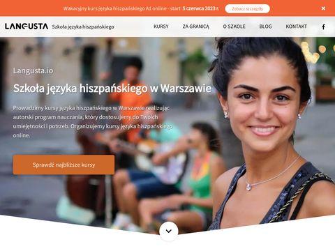 Langusta.io - Szkoła Języka Hiszpańskiego w Warszawie