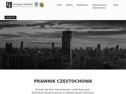 Radca prawny Częstochowa - Grzegorz Ledwoń