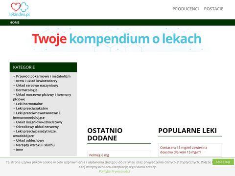 Informacje o lekach, ulotki - lekindex.pl