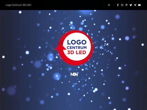 Logocentrum 3D Led - reklama Å›wietlna