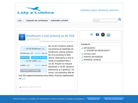Loty z Lublina - Lotnisko Lublin, promocje lotnicze.