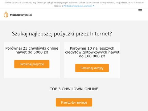 Pożyczka przez internet - madrzepozyczaj.pl