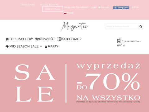 Magneticsklep.pl bia艂a bluzka damska