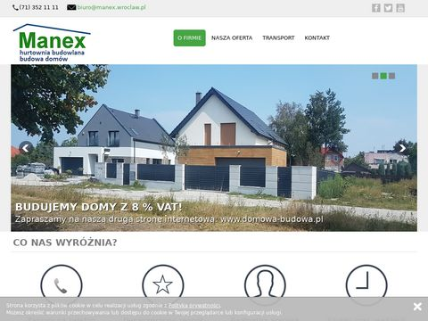 Materiały budowlane Wrocław, Hurtownia budowlana Manex
