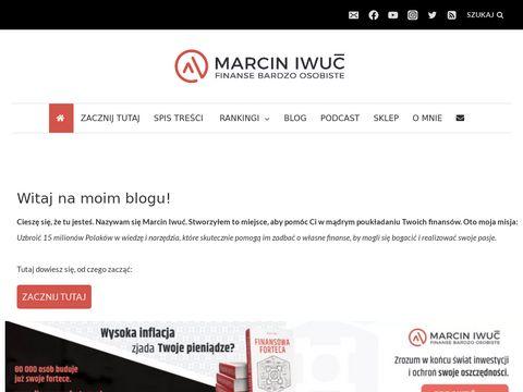 Marcin Iwuć - jak oszczędzać blog