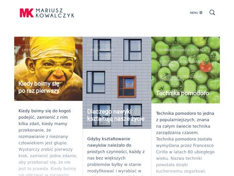 Mariuszkowalczyk.eu | rozw贸j osobisty, szkolenia biznesowe, coaching