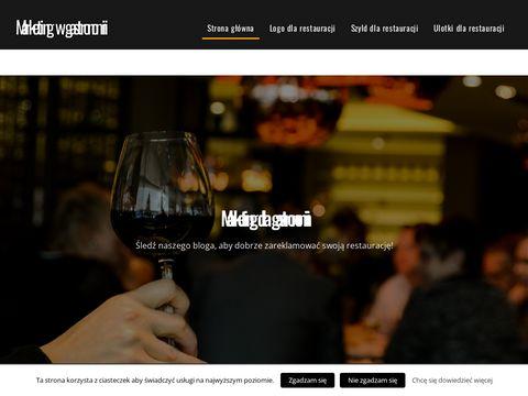 Ulotki, logo, strona dla restauracji