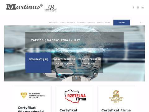 MARTINUS POLSKA - szkolenia, kursy, maszyny, projektowanie