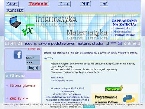Korepetycje - Matematyka i Informatyka w Kielcach